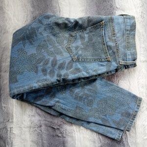 Current/Elliott Tropical Print Skinny Jeans 26